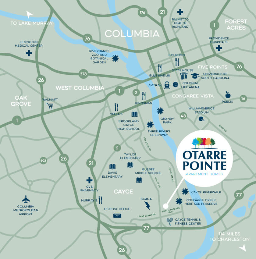 Otarre Pointe Apartment Homes Map